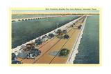 Causeway, Galveston Kunstdruck
