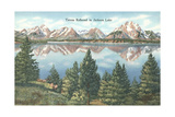Tetons Reflected in Jackson Lake Poster