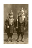 Little Boys Dressed as German Soldiers Posters