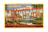 Greetings from Olympia Poster