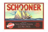 Schooner Lemon Label Prints
