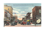 Center Avenue, Brownwood Lámina giclée premium