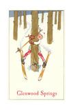 Skiing in Glenwood Springs Print