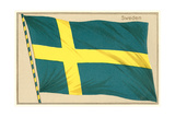 Flag of Sweden Premium Giclee Print