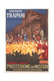 Travel Poster for Trapani Posters