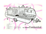 Dauphine Continential Travel Trailer Poster