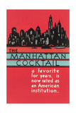 Manhattan Cocktail, Skyline Posters