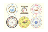 Colorful Sevres Plates Poster