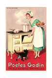 Belgian Cook and Cat Prints