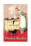 Belgian Cook and Cat Prints