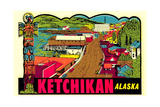 Ketchikan Decal Posters