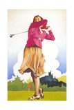 Woman Golfer Posters