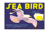Sea Bird Lemon Label Print