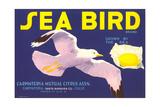 Sea Bird Lemon Label Print
