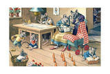 Domestic Scene with Mice Posters