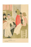 French Seamstress Shop Poster