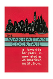 Manhattan Cocktai, New York Skyline Prints