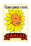 Winking Sunflower Poster