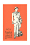 Young Men's Two-Button Lounge Model Poster