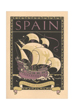 Travel Poster for Spain Art