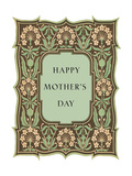 Happy Mother's Day, Leafy Flowery Frame Prints