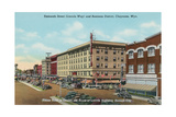 Lincoln Way, Downtown Cheyenne Poster