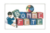 Bonne Fete, French Blocks Prints