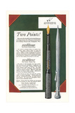 Fountain Pen and Pencil Advertisement Posters