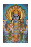 Vishnu and Nagas Prints