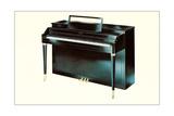 Black Console Piano Kunst
