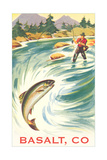 Trout Fishing, Basalt Art