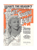 Times Square Lady Sheet Music Posters
