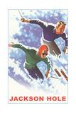 Skiers, Jackson Hole Art