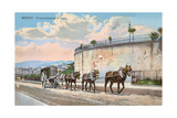 Pack Animals Hauling Cart, Genoa Prints