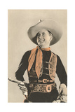 Movie Cowboy with Six-Shooter Poster