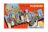 Greetings from Vicksburg Posters