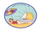 Decal of Myrtle Beach Art