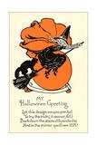 Poem, Witch on Broom Prints