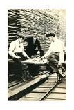Playing Checkers in Lumberyard Posters