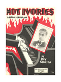 Sheet Music for Hot Ivories Print