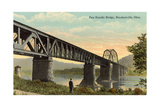 Panhandle Bridge at Steubenville Poster