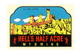 Hell's Half Acre Decal Print
