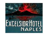 Vesuvius, Excelsior Hotel, Naples Prints