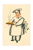 Chef with Steaming Pie Prints