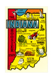 Indiana Map Decal Prints