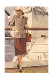 Woman's Suit for Ocean Liner Travel Posters
