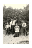 Family with Grapefruit Tree Prints