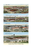 Cadillac Factories, Detroit Poster