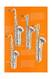 Four Saxophones Prints