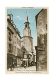 Street of the Clock Tower, Dinan, Brittany Art